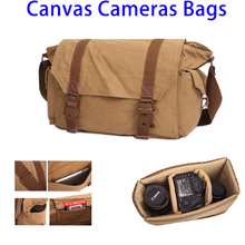 Factory Price Camera Shoulder Bag Canvas for Women Men with Insert Interior Lining