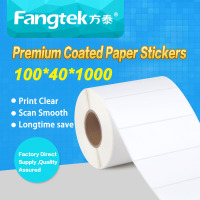 Die cut transfer coated paper 100*40*1000 roll barcode label stickers