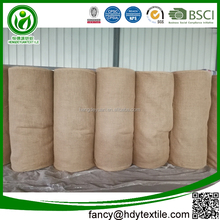 China Factory Eco friendly twill weave natural burlap hessian cloth roll