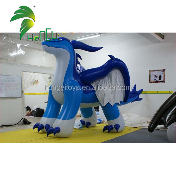 High Quality Giant Inflatable Blue Dragon With Wings ,Sexy Inflatable Flying Dragon For Advertising With Factory Price