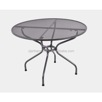 Metal Mesh Round Patio Garden Dining Table Furniture