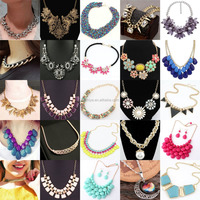 Online shop china !Wholesale choker/bridal wear gold chain design necklace, taobao resin/crystal/zircon/ pearl necklace jewelry