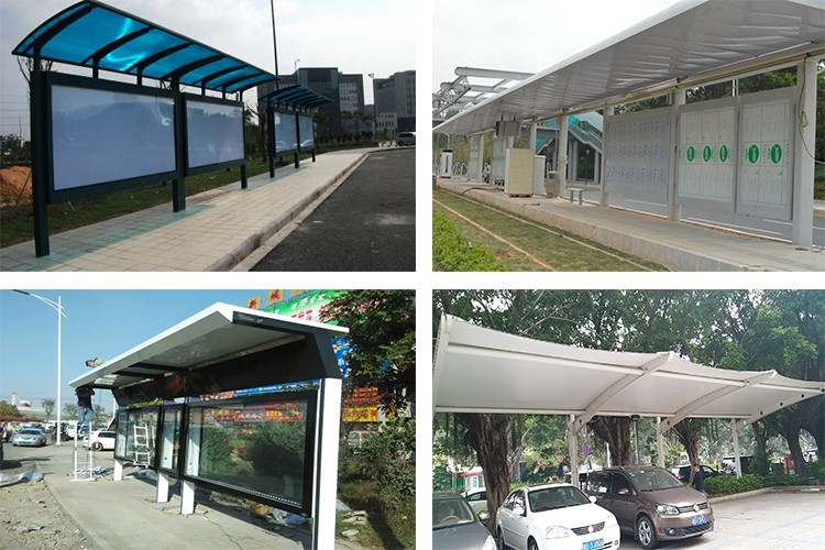 Hot selling product modern stainless steel car parking shelters