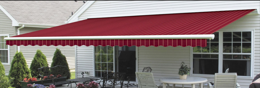 Retractable acrylic awning with electrical remote control for sale