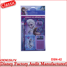 Disney Universal BSCI Carrefour Factory Audit Kungfu Panada Frozen Minions Kids School Supplies Stationery Set 14