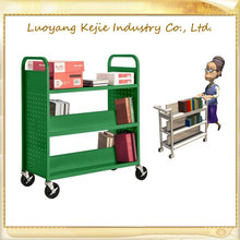 metal 3-tier library trolley bookshelf hot sell moving book cart book trolly home book trolley moving carts