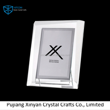 Top selling attractive style crystal glass photo frame for wedding decoration/souvenir