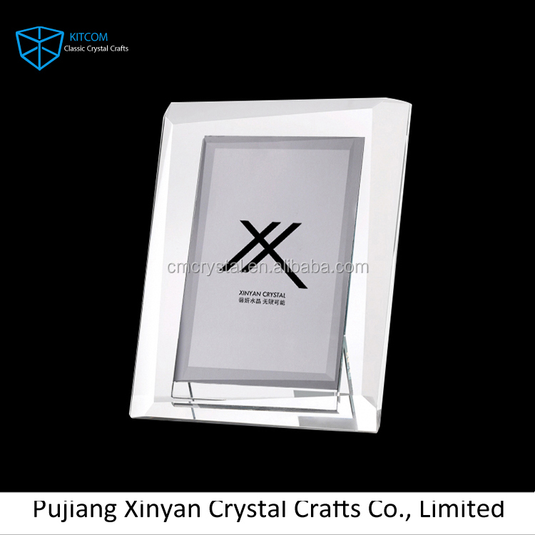 Top selling attractive style crystal photo frame wholesale for wedding decoration/souvenir
