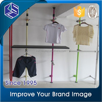 stainless steel tube differnet color metal clothes display rack