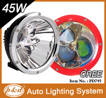 Chrome,finshed front ring 45w cree high power led driving light