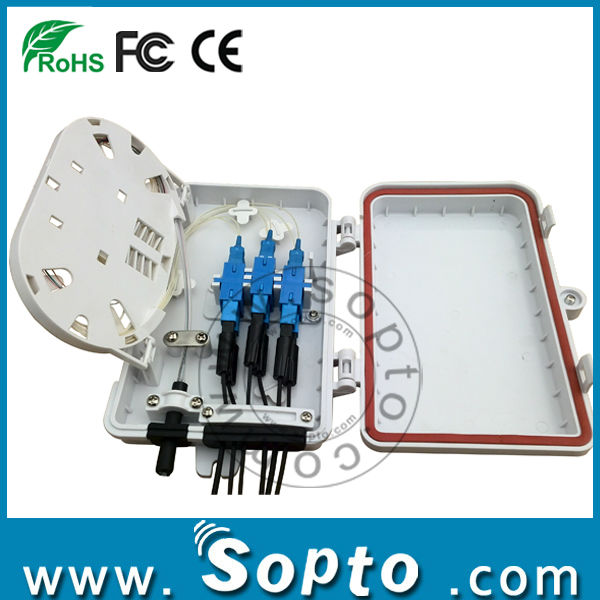 Fiber Optic Termination Box 6 Ports FTTH Fiber Box