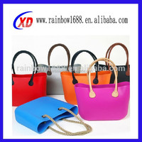 cheap lady paper straw silicone beach bags with leather handle