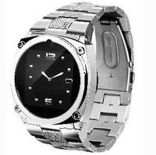 single sim watch phone cell phone TW818 1.6 inch Touch Screen 1.3mp camera silver phone watch