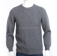 2015 new style cashmere mens crew neck pullover sweater pattern