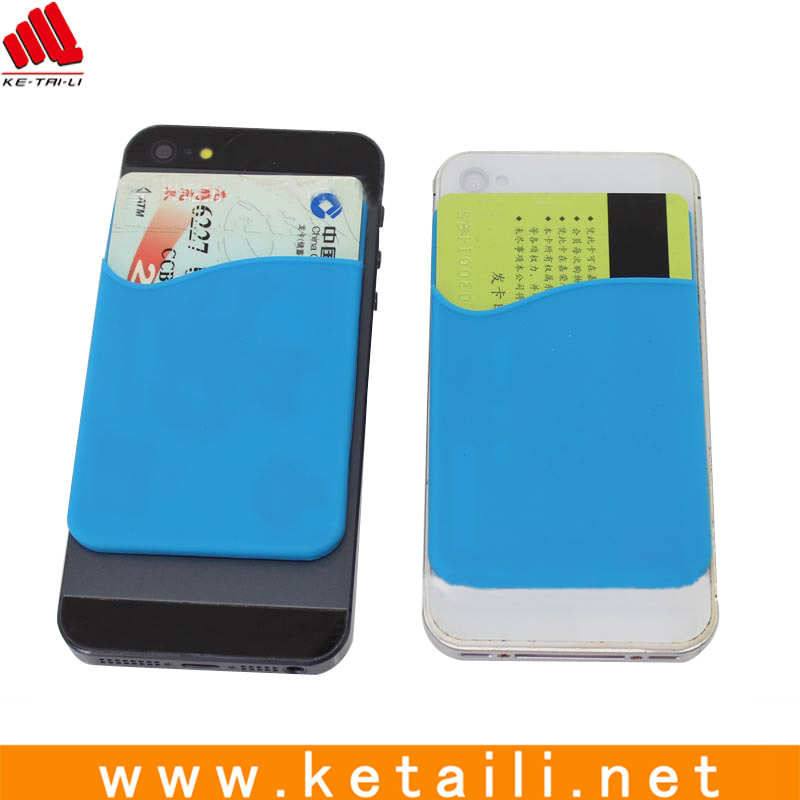 3M adhesive silicone mobile phone card holder sticker, cell phone card holder