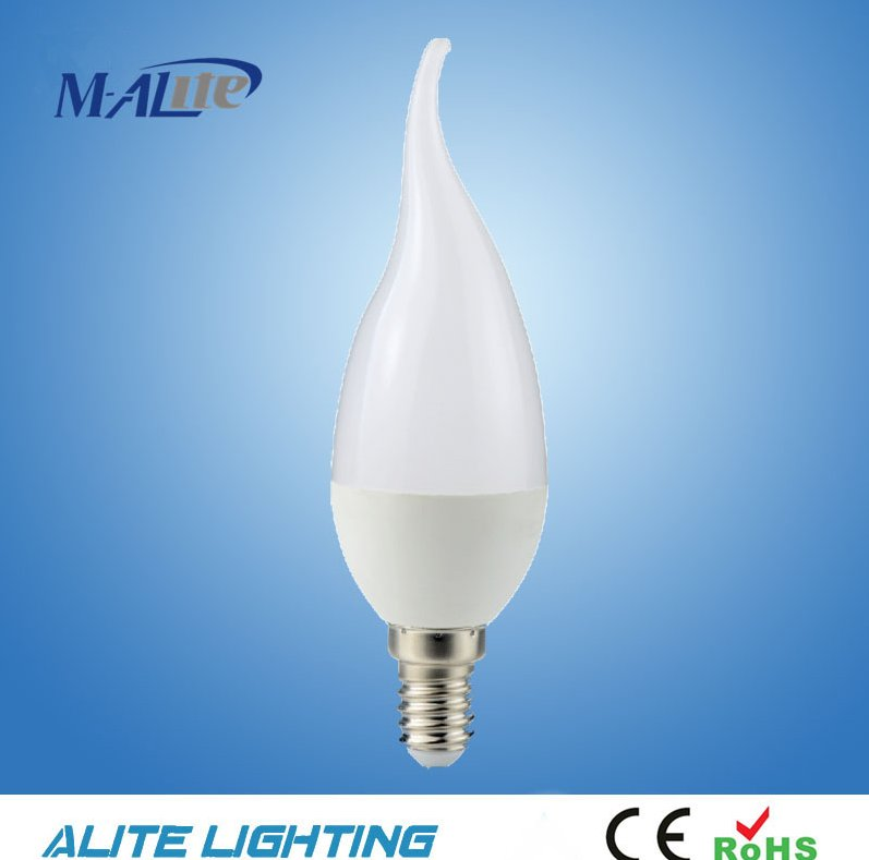 CE 110V230V 5W/ 7W 420lm/520lm E27 E14 mini Led Bulb C37 LED Candle Light