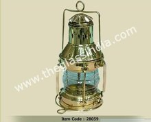 Brass Ships anchor Lantern