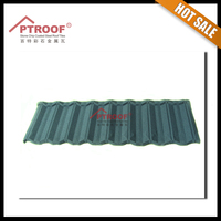 Colorful red light weight spanish stone coated metal roofing tile
