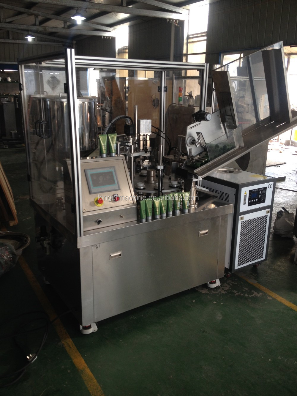 Automatic Cream Ointment Grease Toothpaste Tube Filling Sealing Machine