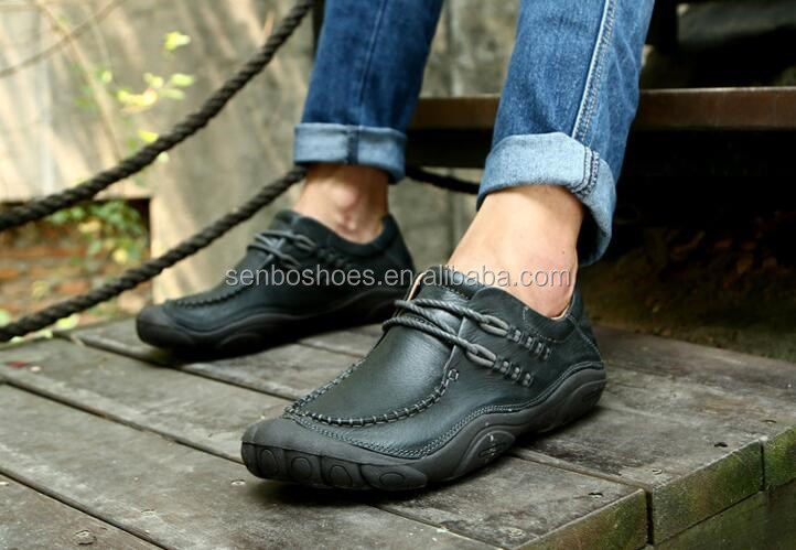 New Leather Casual Flat Men Shoes
