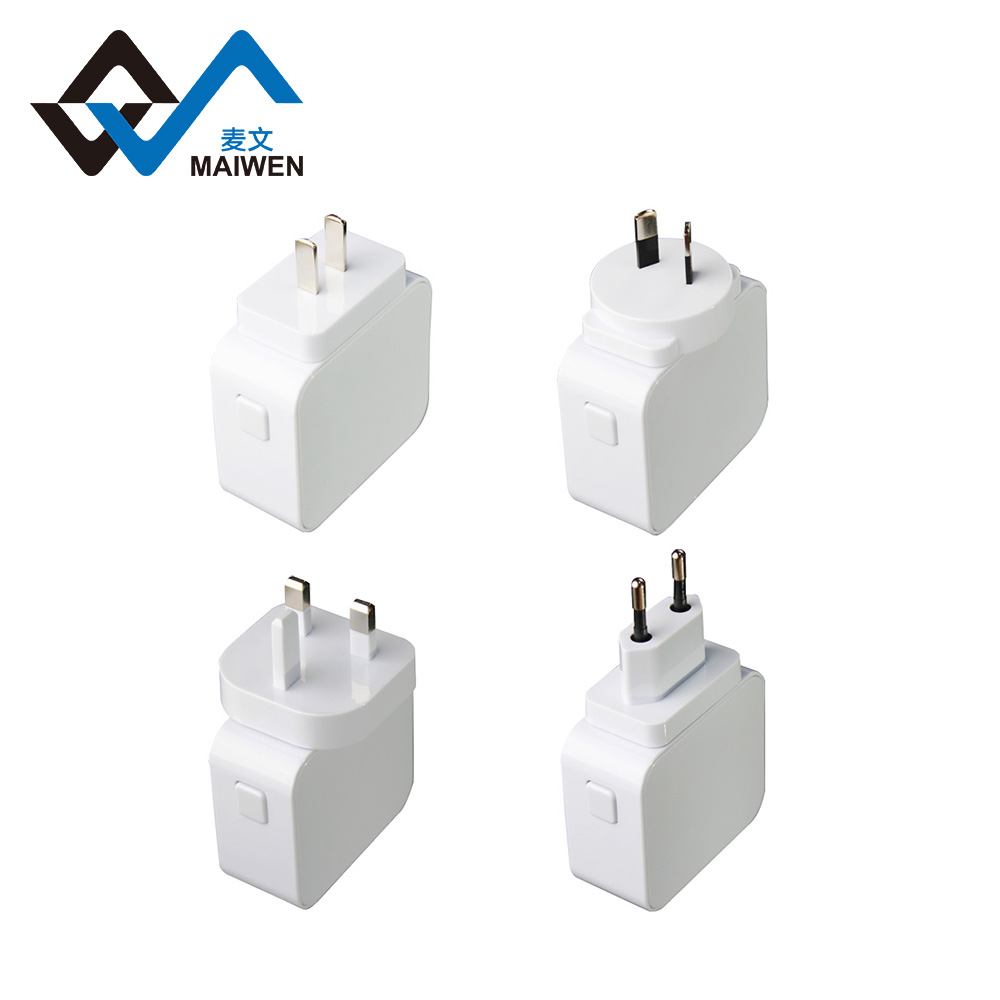 Dual Ports USB Power Adapter US 2 Pin Wall Plug charger for mobile phone