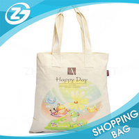 Recycling 100% Eco Organize Plain Customized Printed Cotton Tote Bags