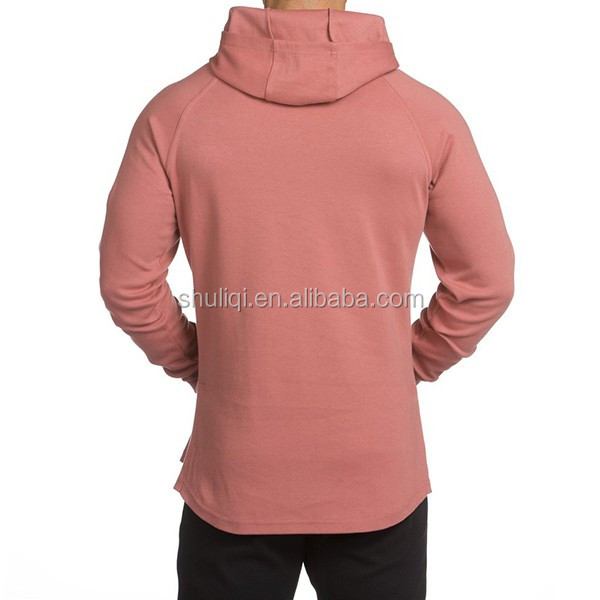 Customised hoodie side zipper 80% cotton 20% polyester tech fleece