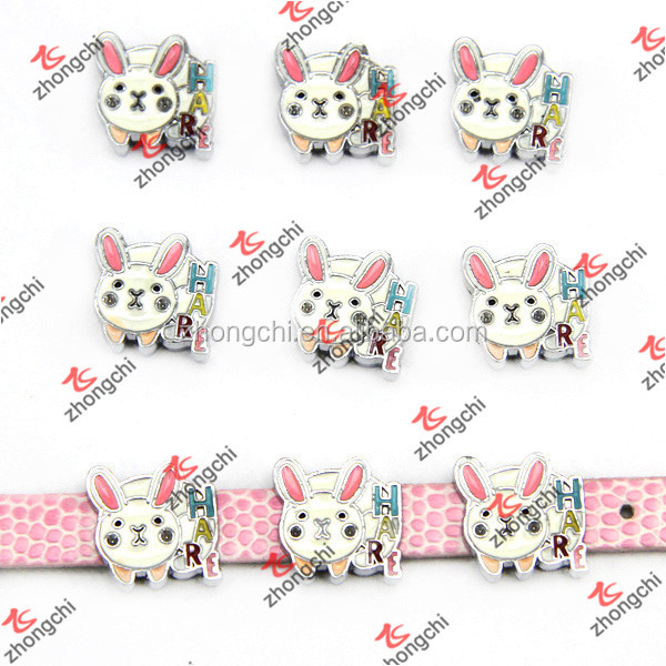 Lovely Rabbit/Hare slide charms For Kids Bracelet Jewelry in fashion