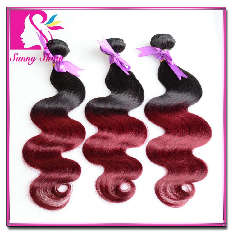 Fashion Ombre Human Hair Bundles 4pcs Lot 7A Ombre Brazilian Hair Weaves Brazilian Virgin Hair Body Wave Ombre Hair Extensions