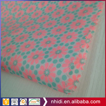 Factory cheap satin fabric direct printing organic blue cotton fabric