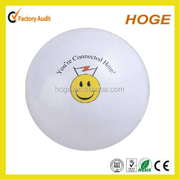Free sample 12 inch Inflatable solid white plastic beach ball