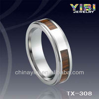 Vogue Jewelry Wedding Rings Wood Silver Inaly Wedding Penis Ring
