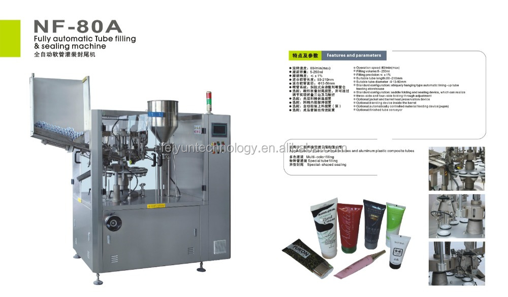 Full-automatic tube filling and sealing machine NF-80