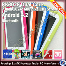 "Hot colorful 7"" android 4.2 rockchip tablet kids drawing wholesale"