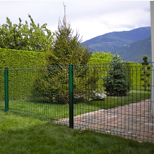 best quality 3D folding cheap factory price security iron plastice pvc coat garden welded wire mesh fence panels