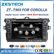 ZESTECH Car DVD factory 8'' touch screen 2 din car dvd player for toyota corolla car navigation system for toyota