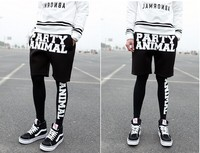 Reggae floral pants sweatpants 2015 trade assurance hip-hop men's pants the black fit slim and print words hip-hop mans pants