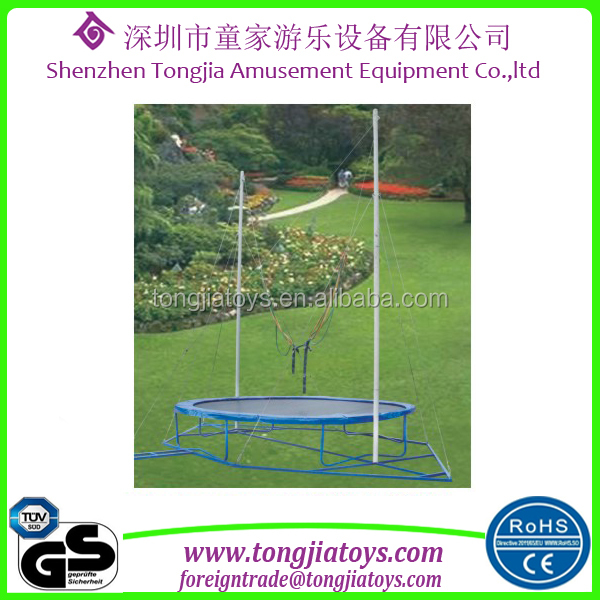 high quality bungee jumping cord outdoor round single bungee trampoline for sale malaysia with bungee trampoline harness