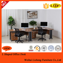 L Shape Office Furniture with Steel Frame