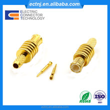 RF Coaxial Cable Connector Right Angle MCX Male