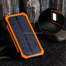 Wholesale 8000 to 10000mah full capacity CE FCC ROHS solar mobile battery charger