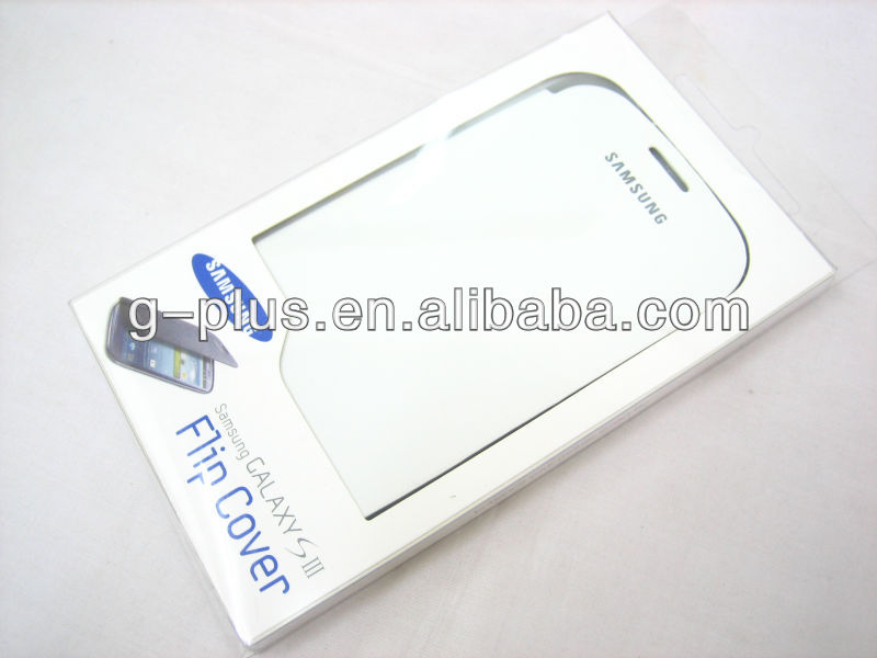 White Original Leather Flip Cover Carrying Case Pouch for Samsung Galaxy S3 SIII GT-i9300 i9300