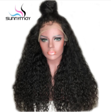 Peruvian 180% Density Curly Lace Front Human Remy Hair Wigs For Black Women