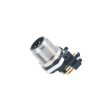 M12 connector 5pin male 90 degree connector IP67 waterproof connector