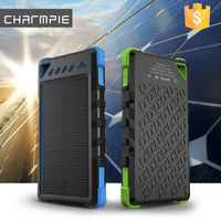 New design Universal 8000mah solar charger for mobile/dual usb portable solar battery charger