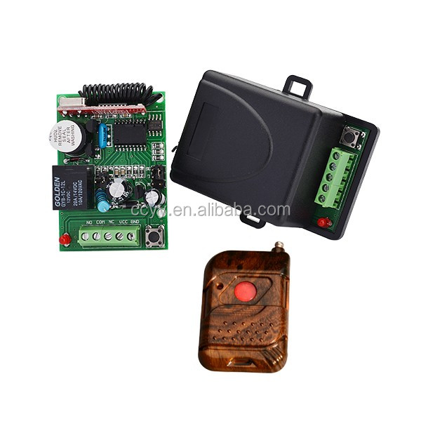 Top Sale Wireless Rf Transmitter and Receiver 433 Single Channel receiver kit