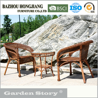 019C(2) wicker chairs and coffee table rattan furniture made in China
