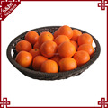 Wholesale various size round shape fruit basket Decoration PE rattan display stand for supermarket store