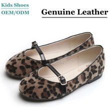 Hot sell fashion pu leopard kid shoes 2014 for footwear factory