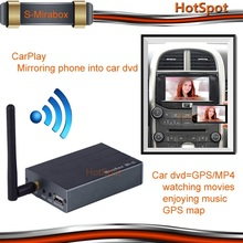 universal mirabox CVBS/HDMI output/RGB for android and IOS 8/7/6 wifi mirror link for car dvd built-in gps /bluetooth/ am